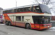 Перевозки автобусами по маршруту Одесса-Луганск-Одесса.